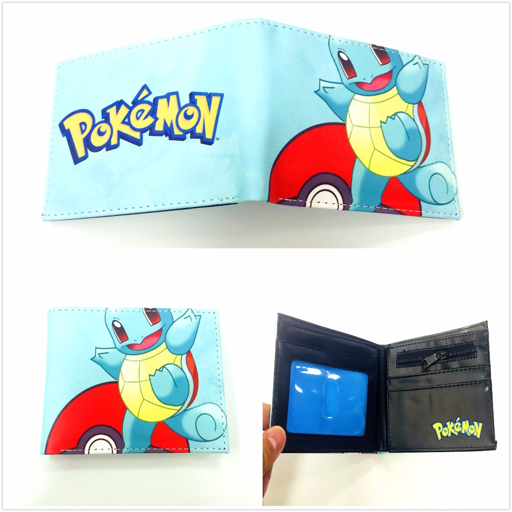 New Hot Game Pokemon Go Wallet Monster Charizard Pikachu Poke Short Wallets Bifod Card Holder Purse For Teenagers XY0032