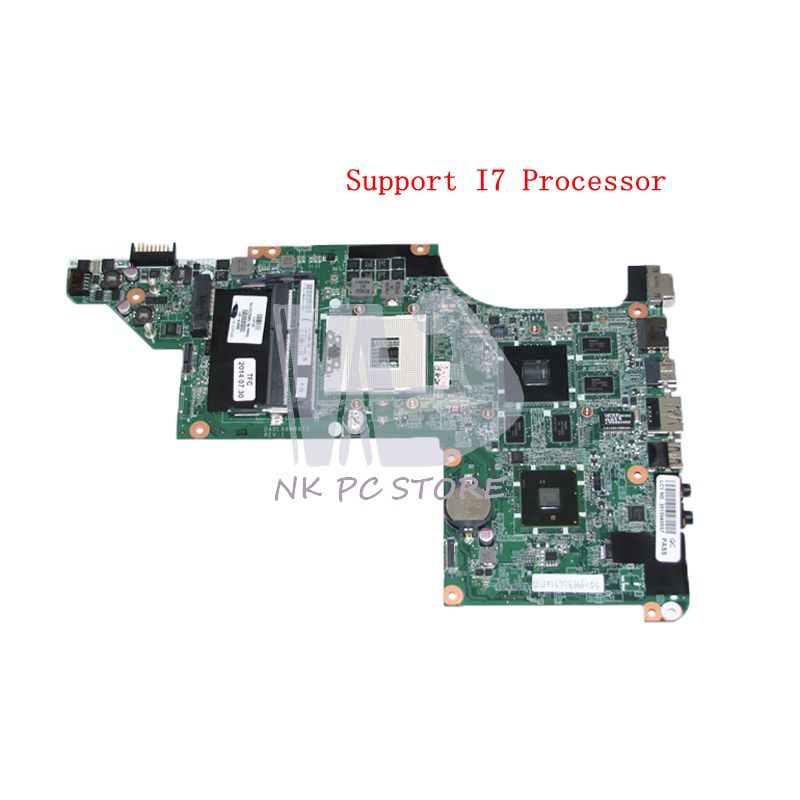 NOKOTION 630278-001 592186-001 For HP Pavilion DV6 DV6-3000 Laptop motherboard HM55 DDR3 HD5650 1GB Support I7 CPU Only sheli laptop motherboard for hp pavilion dv6 7000 682169 001 48 4st10 021 ddr3 gt630m 1gb non integrated graphics card