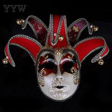 Jester Party Mask Halloween Venetian Venice Masks Props Masquerade Christmas Costumes Carnival Anonymous Rama Art Masker