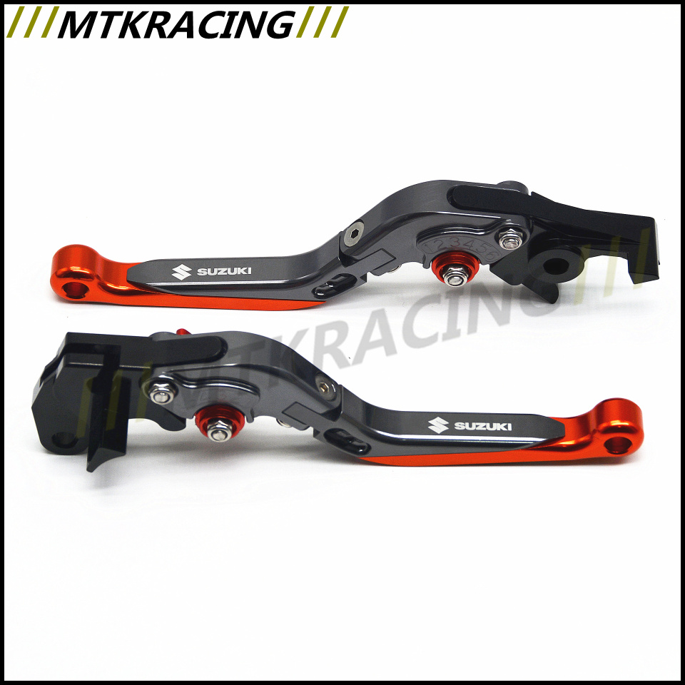 for SUZUKI HAYABUSA GSXR1300 1999 2007 Motorcycle Accessories Adjustable Folding Extendable Brake Clutch Levers Free Shipping