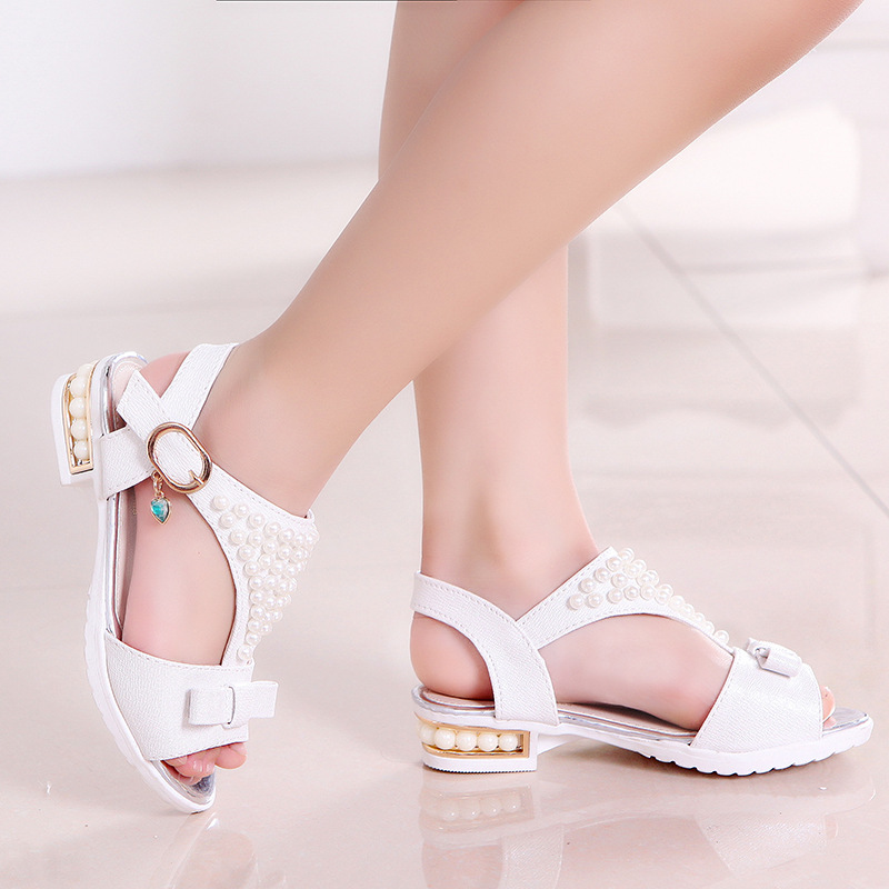 Girl Sandals 2018 new Girl Kids Sandals Fashion ChildrenS Shoes Girls Summer Sandals Beach Shoes S Princess Beading Shoes