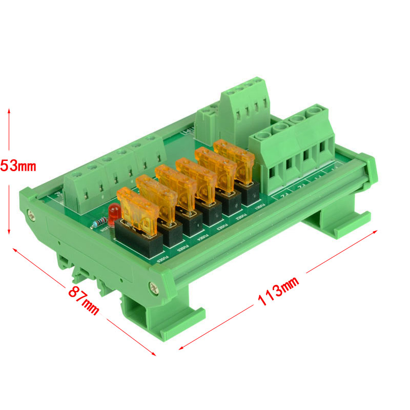 12V 9 CH Switch Power Supply Separation Board PCB Current Board with Fuse