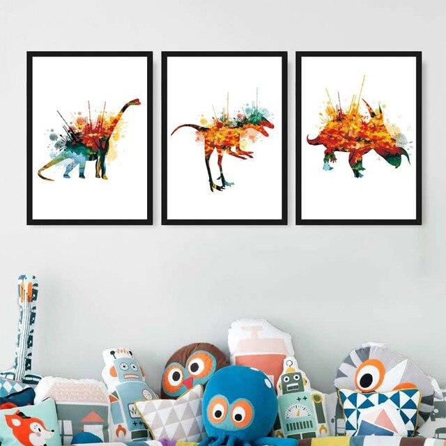 Aquarelle Dinosaures Poster Prints BRICOLAGE Personnalit Art Toile Peinture Abstraite Moderne D coration de La Maison.jpg 640x640 Résultat Supérieur 1 Incroyable Acheter Canape Convertible Und Peinture Contemporaine Sur toile Pour Salon De Jardin Stock 2017 Lok9