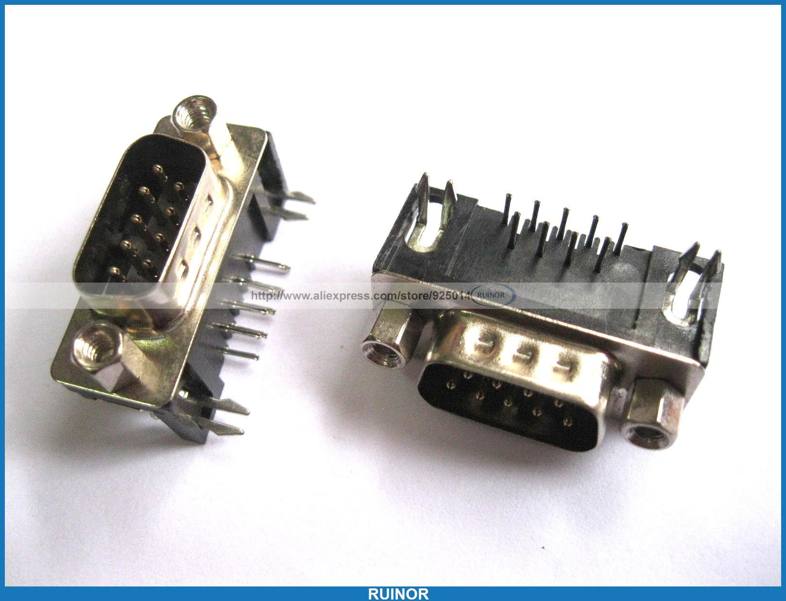 30 Pcs D Sub 9 Pin Male Connector with Right Angle 30 pcs d sub 9 pin male connector with right angle
