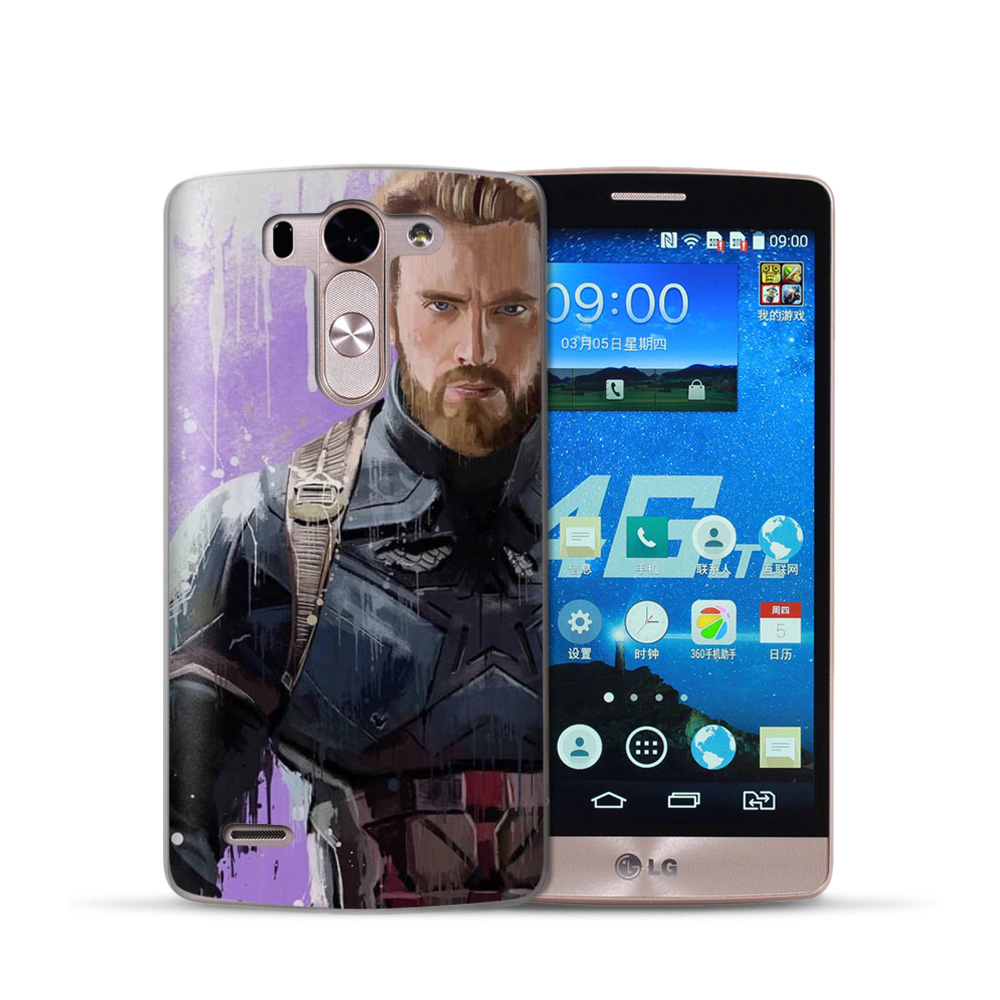 Marvel Heroes Phone Case For LG G6 G4 G5 Q8 Q6 K8 K7 K10 2017 X Power 2 TPU Soft Silicona casos para Shell Cover Etui Cell in Fitted Cases from Cellphones Telecommunications