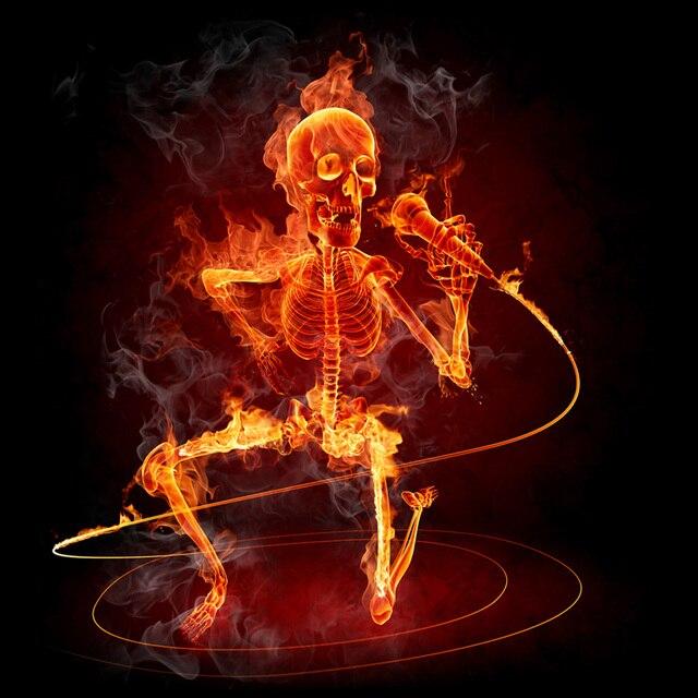 Skeleton Playing Guitar Wallpaper