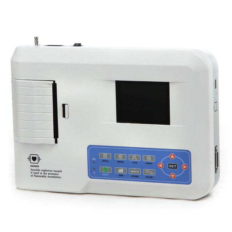 Professional 3 Channel ECG / EKG Machine with Printer and Paper and USB Software 300G, CE Approved набор бит и сверл bosch x line 70 promoline 2 607 019 329