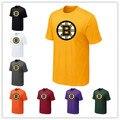 Дешевые Бостон Брюинз Футболки Большие & Tall Логотип Мода Брюинз Тис Коротким Рукавом О-Образным Вырезом Хлопок Футболки 14 Цвета