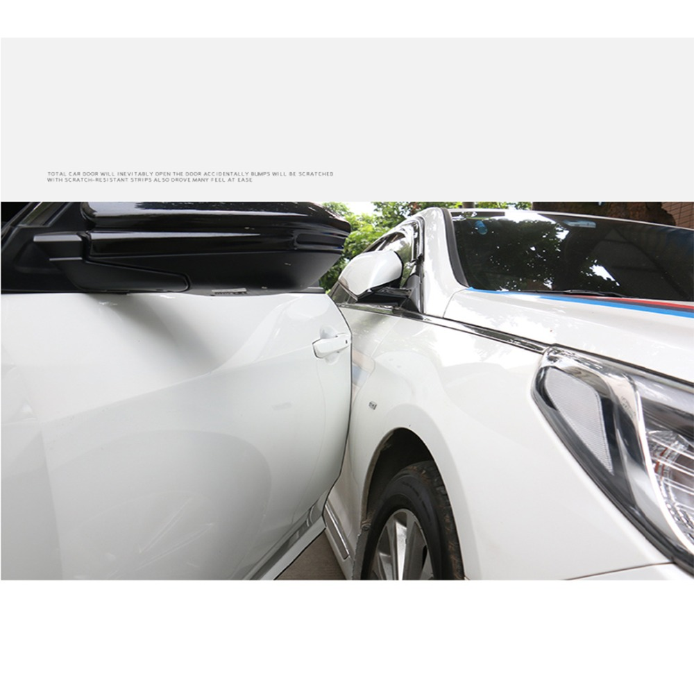 10m Anti Scratch Bar Car Door Edge Rubbing Strip Anti Collision Rubber Bumper Protection Sticker Strip car wrap accessories in Car Stickers from Automobiles Motorcycles