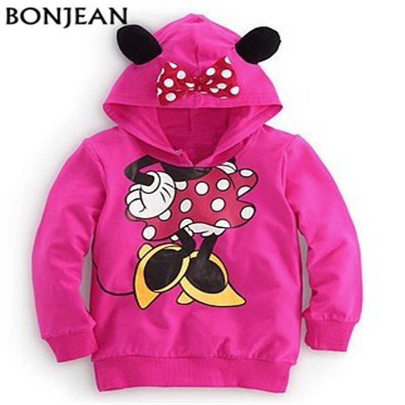 Hoodies Sweatshirt Baby-Girls Boys Mickey Kids Children Cartoon Minnie Clothing Fashion