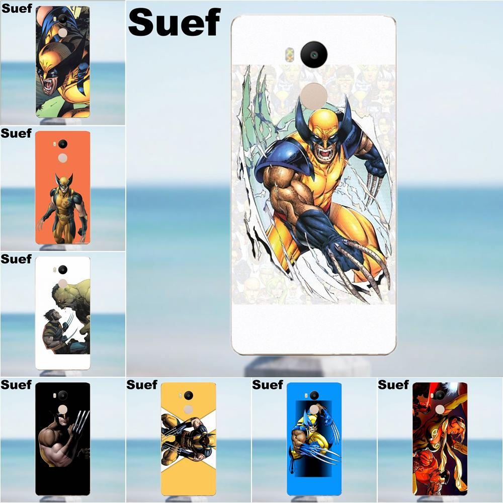 Soft Silicone TPU Transparent Cases For Xiaomi Redmi 4 3 3S Pro Mi3 Mi4 Mi4i Mi4C Mi5 Mi5S Mi Max Note 2 3 4 Wolverine Comics image