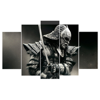 HD Canvas Spray Printing 5 Pieces Japanese Samurai Home Decoration Poster Canvas Paintings Unframed Dropshipping game poster art
