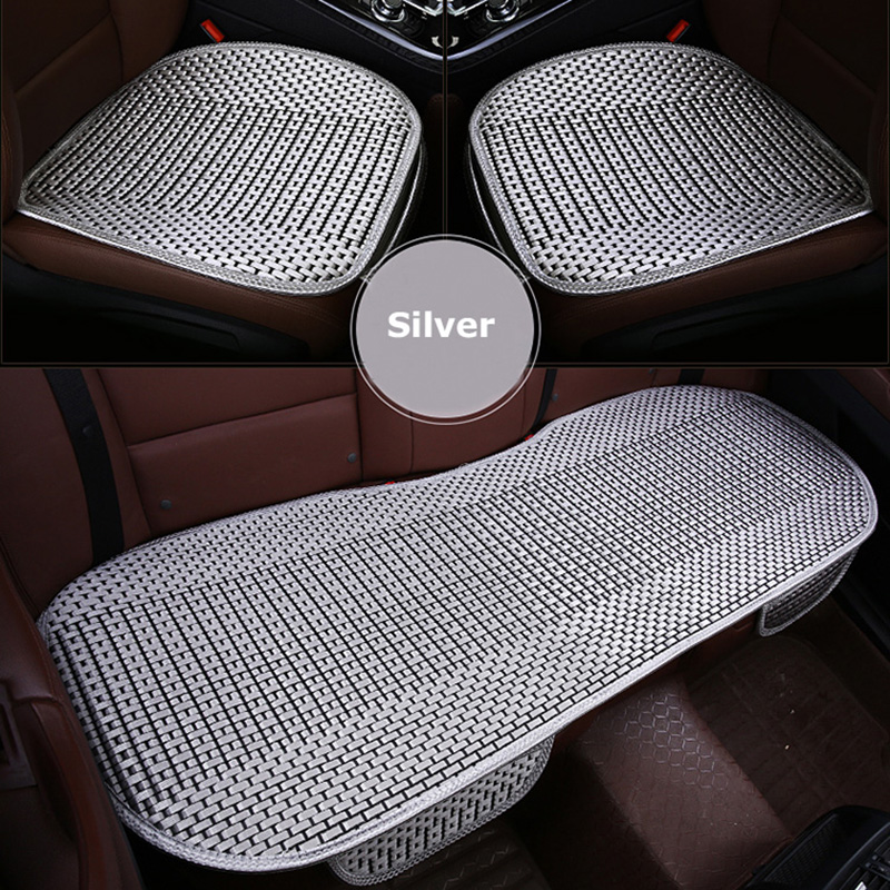 KKYSYELVA Easy Install Car Seat Cushion Cover Universal Auto Front Back Seat Covers Car Chair Mat