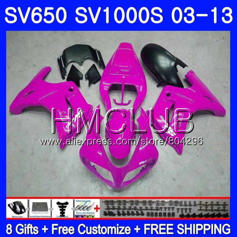 Обтекатель для SUZUKI SV650S розовый SV 650 S 03 09 10 11 12 13 28HM. 15 SV650 1000 S 1000 S SV1000S 2003 2009 2010 2011 2012 2013