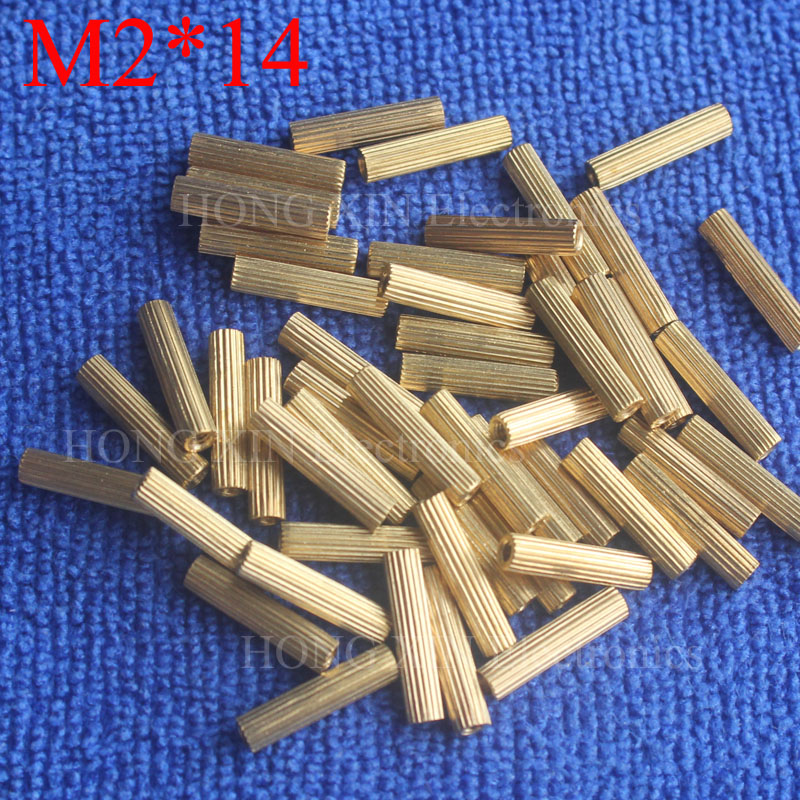 M2*14 1Pcs Brass Spacer Standoff 14mm Female To Standoffs column cylindrical High Quality 1 piece sale
