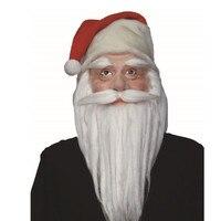 X MERRY 2017 Xmas Christmas Dress Up Fans Latex Masks White Wigs Cosplay White Beard Free