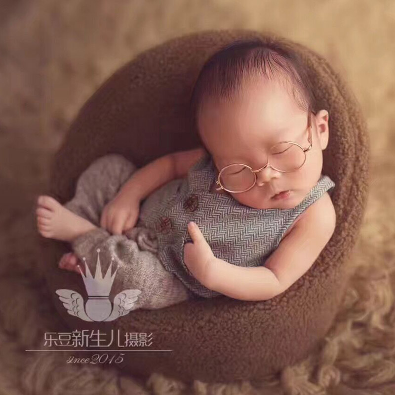 Newborn Photography Props Cute Newborn Vest Costume Set Baby Boy Clothes Baby Boy Outfits Newborns Props Baby Photo Accessories newborn baby photography props infant knit crochet costume peacock photo prop costume headband hat clothes set baby shower gift