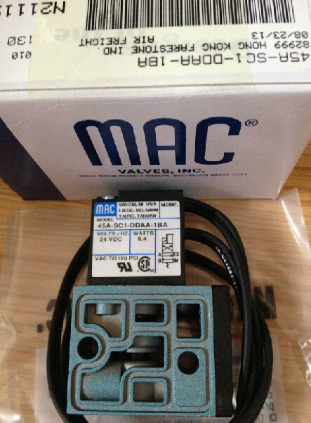 все цены на  Brand new original American MAC high frequency electromagnetic valve 45A-SC1-DDAA-1BA DC24V 5.4W  онлайн