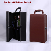 купить 1/6 Scale Figure Carrying Case Storage Box leather dust box Display box Scene Props Model For 12 Action Figure Accessory дешево