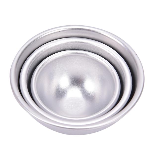 2Pcs Bath Bombs Metal Aluminum Alloy Bath Bomb Mold 3D Ball Sphere Shape DIY Bathing Tool Accessories Creative Mold