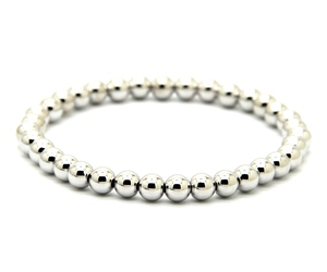 Image 4 - Ailatu 10 pièces/lot 6mm Rose et couleur or plaqué perles de cuivre rondes hommes femme cadeau danniversaire Bracelet extensible bijoux