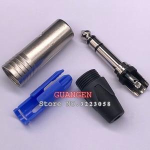 Image 4 - 10 pçs/lote para neutrik np3x 24 k chapeado ródio 3 pólo 6.35mm 6.5mm estéreo jack plug para diy cabo