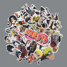 63pcs/lot Naruto Stickers Anime Characters Mixture Decals Sticker for Suitcase Skateboard Naruto Figure Graffiti Stickers Toys(China)