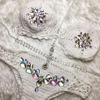 Almostlover1209 Crystal Bikini Crochet Swimwear Women Swimsuit Diamond Jewel White Biquini Mulher Monokini Luxury Bikinis 2018