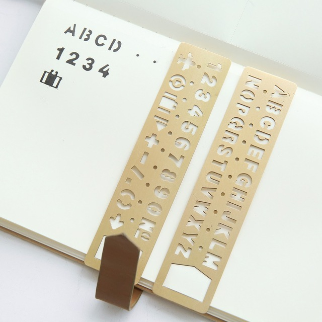 Metal Fashion Hollow Out Ruler Design Bookmark 13*3cm DIY Journal