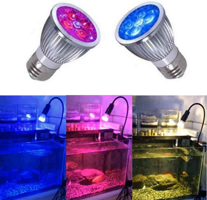 LED Aquarium Light Plant Lighting Reef Fish Tank Lamp E27 Bulb for Marine Reef Coral Fish Algae Plant