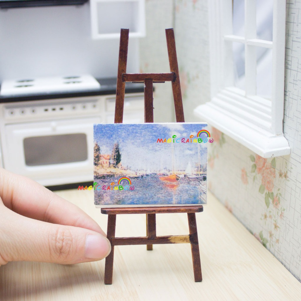 Mano Para Caballete Aceite De Hecho Artesanal Madera Miniaturas A Pintura Muñecas Casa hrxQtsdC
