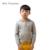 Lã Merino 2 - 8 anos meninos camisolas marca phoebee suéteres de Cashmere chapéu bolso de malha crianças vestuário cinza roupas de crianças cashmere-sweaters blusa caxemira cashmere cardigan menino roupa estilo europeu
