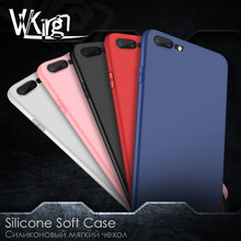 VVKing For iphone 6 6s plus Slim Soft Back Phone Case For iphone 7 8 Plus X XS Max XR Cover Luxury Candy Colors Matte Back Coque(China)