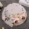 Hand-made Flores de Linho Chapéus De Noiva 2017 Novos Acessórios Do Casamento Decoração Chapéu De Festa À Noite Para As Mulheres SQN001