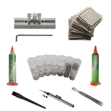144pcs Reballing Stencils Directly Heating + Reballing Jig Solder Ball Scraper Vacuum Suction Pen BGA Reballing Kit