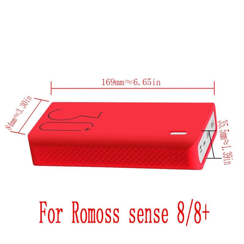 Силиконовый чехол для Romoss sense 8/8+ мобильный мощный мягкий силиконовый Противоскользящий чехол Romoss sense 8 чехол