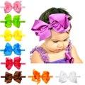 6 polegada hair bows headband infantil cabelo grande arco hairbows bebê hairband 16 cores para escolher