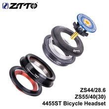 Ztto 4455st mtb fone de ouvido zs44 zs55 afilado em linha reta universal 1.5 polegada 28.6mm garfo pilha zero integrado com copos bicicleta estrada