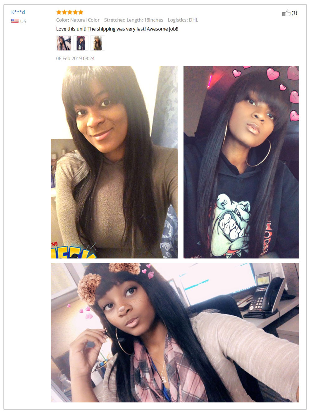 Bangs Remy Straight Transparent 7