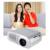 Mini Portátil LED Projetor de Vídeo Portátil Mini LED Projetor LCD 1080 P HD Home Cinema Teatro projeksiyon Jogo AV USB VGA SD