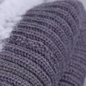 Image 5 - หมวกขนสัตว์สำหรับหญิงหรูหรา Fluffy Ball หมวกรัสเซียใหม่เย็นฤดูหนาวขนสัตว์กระต่ายแท้ลายใหม่ Benies หมวกจัดส่งฟรี