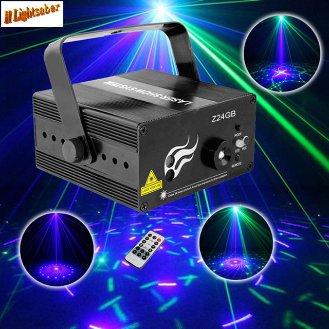 24 Patronen BG Mini Laser Projector Podiumverlichting Blauw Groen DJ ...