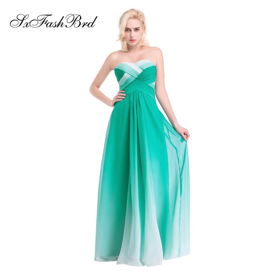 Vestido De Festa Sweetheart En Linje Sommar Flerfärgad Chiffong - Särskilda tillfällen klänningar - Foto 4