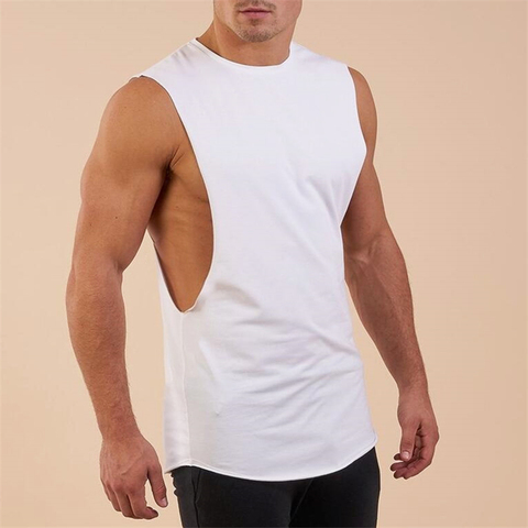 New Summer Gyms Fitness Bodybuilding Tank Tops Stringer fashion mens workout clothing Loose open side sleeveless shirts Vest Multan