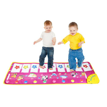 Baby Toys 98 * 36cmElectronic Piano Mat Keyboard Kids Blanket Carpet Singing Developmental Smart Planet Dance Step Floor Funny