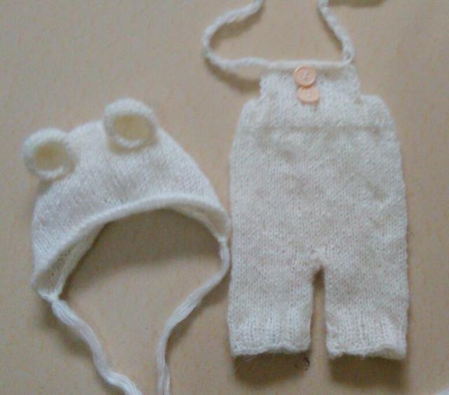 Recién nacido conjunto Gorrito de Bebé y pantalones de Punto de Mohair La fotografía recién nacido apoyos photography fondo