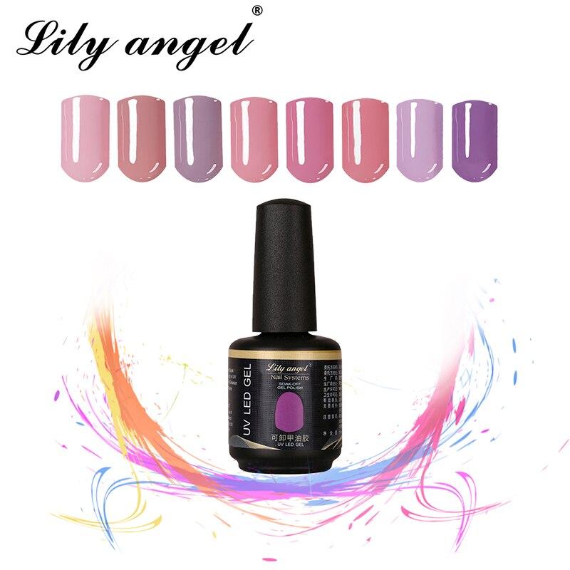 Lily angel Nail Gel Polish DIY Nail Art Glitter 15ML Gel Varnish Long Lasting  UV LED Soak Off  Led Gel Lacquer 32-62