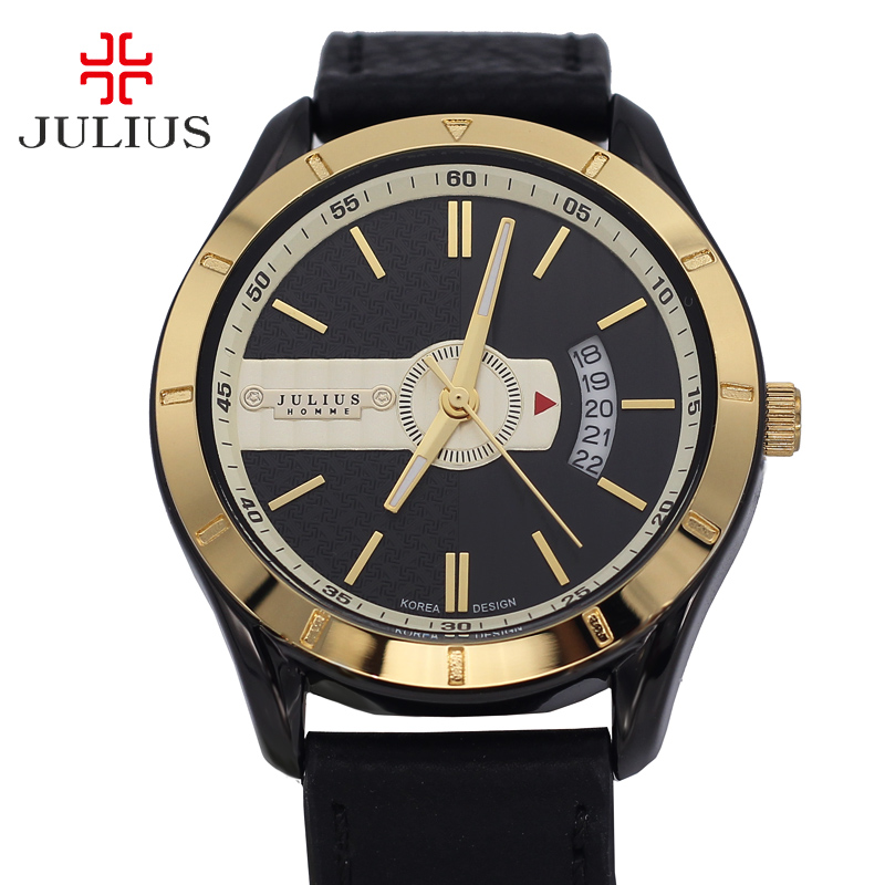 Julius Homme Men s Watch Japan Quartz Hours Clock Fashion Dress Bracelet Leather Boy Birthday Christmas