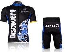 3D Силикон! 2007 DISCOVERY с коротким рукавом велоспорт носить одежду с коротким рукавом велосипед/велосипед/езда джерси + брюки