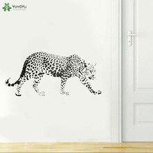 цена на YOYOYU Wall Decal Slow Walking Cheetah Vinyl Wall Decal Nature Wildlife Leopard Pattern Zoo Forest Park Animal Art Poster QQ197